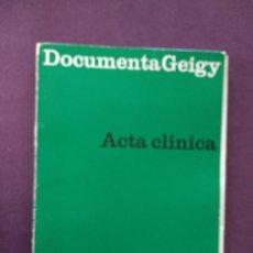 Libros: ACTA CLÍNICA ARTROSIS DE LA RODILLA DOCUMENTA GEIGY. Lote 115380283