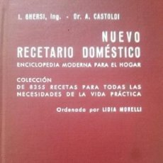 Libros: NUEVO RECETARIO DOMESTICO. Lote 175518908