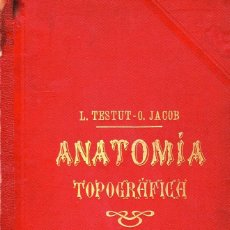 Libros: ANATOMÍA TOPOGRÁFICA, CON APLICACIONES MÉDICO QUIRÚRGICAS (TOMO II). L. TESTUT Y O. JACOB. Lote 124816839