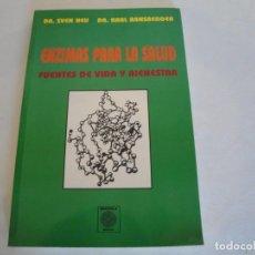Libros: ENZIMAS PARA LA SALUD. DR. SVEN NEUDR Y DR. KARL RANSBERGER. 1993. NUEVO.. Lote 132676638