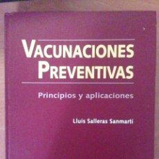 Libros: VACUNACIONES PREVENTIVAS. Lote 135071082