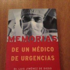 Libros: MEMORIAS DE UN MÉDICO DE URGENCIAS. Lote 135091198