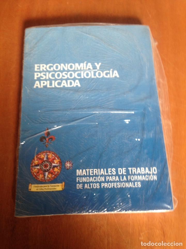 ERGONOMIA Y PSICOSOCIOLOGIA APLICADA (Libros Nuevos - Ciencias, Manuales y Oficios - Medicina, Farmacia y Salud)