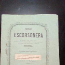 Libros: PIEDRA ESCORSONERA 1860. Lote 136405206