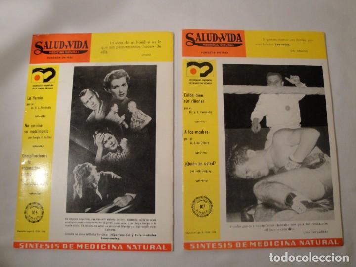 Libros: Salud y Vida. Medicina Natural. Dr. V.L. Ferrándiz. 11 revistas de 1970 a 1973. Nuevas. - Foto 4 - 140308922