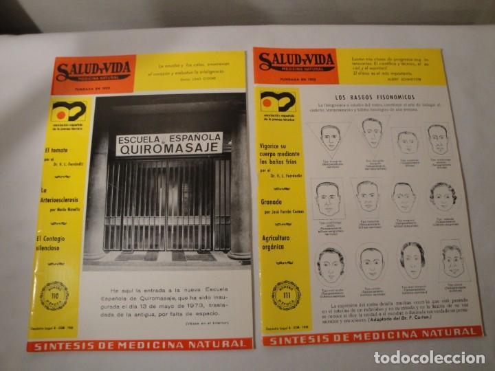 Libros: Salud y Vida. Medicina Natural. Dr. V.L. Ferrándiz. 11 revistas de 1970 a 1973. Nuevas. - Foto 6 - 140308922