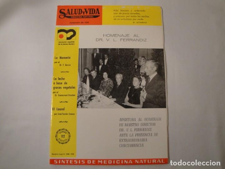 Libros: Salud y Vida. Medicina Natural. Dr. V.L. Ferrándiz. 11 revistas de 1970 a 1973. Nuevas. - Foto 7 - 140308922
