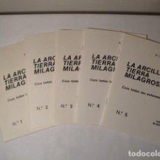 Libros: LA ARCILLA, TIERRA MILAGROSA. AUTOR: ROMOLO MANTOVANI. AÑO 1979. CUADERNOS 1 AL 5.NUEVOS.. Lote 146507326