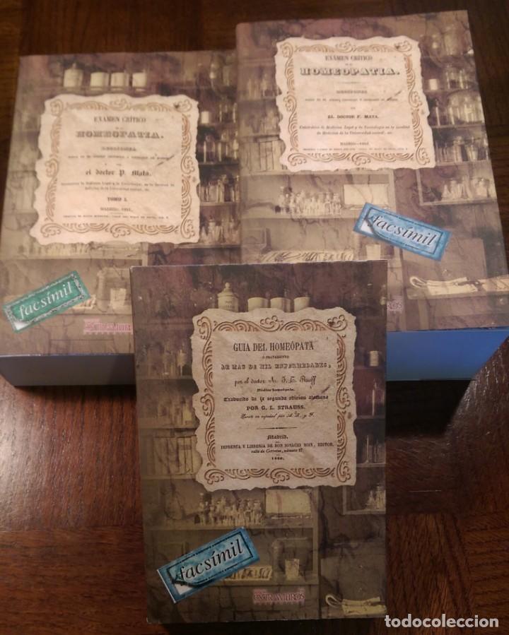 3 LIBROS FACSÍMILES RELATIVOS A LA HOMEOPATÍA (1846-1852). GUÍA DEL HOMEÓPATA. MEDICINA TRADICIONAL (Libros Nuevos - Ciencias, Manuales y Oficios - Medicina, Farmacia y Salud)