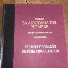 Libros: TRATADO LA ANATOMÍA DEL HOMBRE, PULMÓN Y CPRAZÓN SISTEMA CIRCULATORIO. Lote 151904278