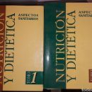 Libros: 2 LIBROS.NUTRICION Y DIETETICA. COMO NUEVOS.LIBROS.MEDICINA.. Lote 152310905
