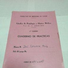 Libros: FACULTAD DE MEDICINA DE CÁDIZ CATEDRA DE PATOLOGÍA Y CLÍNICA MÉDICA CUADERNO DE PLÁSTICA 1957. Lote 152804636
