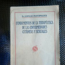 Libros: FUNDAMENTOS DE LA TERAPEUTICA DE LAS ENFERMEDADES CUTANEAS - P. SALVAT 1923 ( L-U ). Lote 169215916