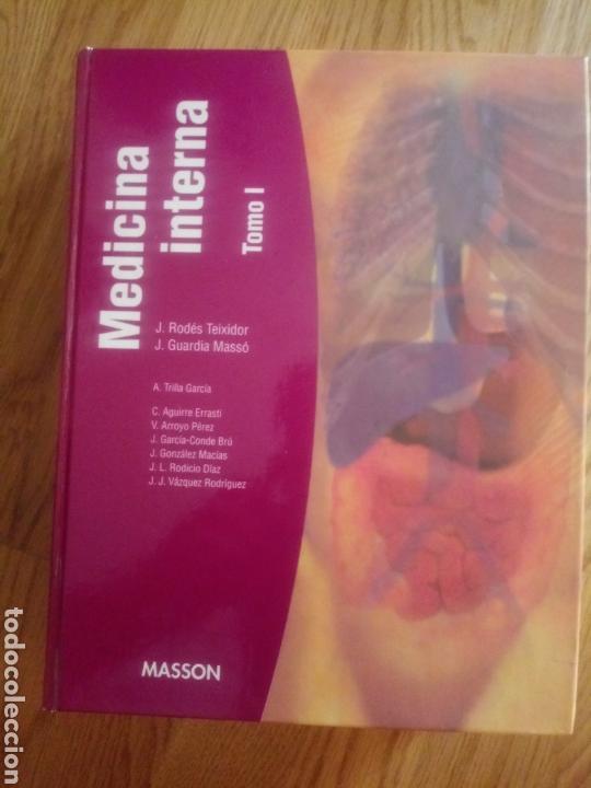 LIBRO MEDICINA INTERNA TOMO 1 ED MASSON J. RODES TEIXIDOR Y J. GUARDIA MASSO (Libros Nuevos - Ciencias, Manuales y Oficios - Medicina, Farmacia y Salud)