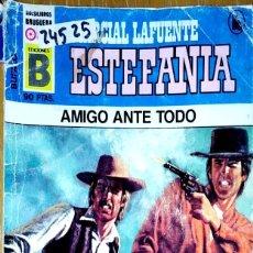 Libros: 24525 - NOVELAS DEL OESTE - ESTEFANIA - COLECCION BUFALO - AMIGO ANTE TODO - Nº 86. Lote 183696495