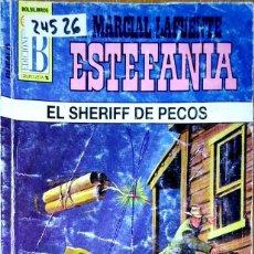 Libros: 24526 - NOVELAS DEL OESTE - ESTEFANIA - COLECCION BUFALO - EL SHERIFF DE PECOS - Nº 446. Lote 183696533