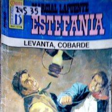 Libros: 24535 - NOVELAS DEL OESTE - ESTEFANIA - COLECCION BUFALO - LEVANTA, COBARDE - Nº 333. Lote 183698106