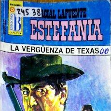Libros: 24538 - NOVELAS DEL OESTE - ESTEFANIA - COLECCION BUFALO - LA VERGÜENZA DE TEXAS - Nº 345. Lote 183698450