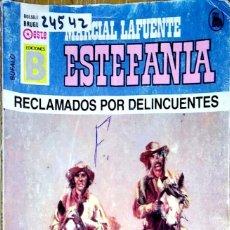 Libros: 24542 - NOVELAS DEL OESTE - ESTEFANIA - COLECCION BUFALO - RECLAMADOS POR DELINCUENTES - Nº 13. Lote 183758440