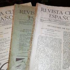 Libros: LOTE DE 3 REVISTAS CLÍNICA ESPAÑOLA.. Lote 191379085