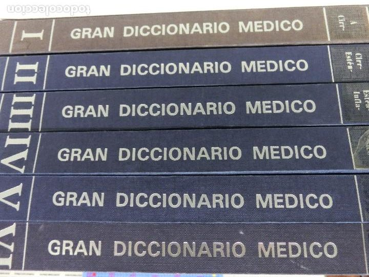 GRAN DICCIONARIO MEDICO - FRATELLI FABBRI EDITORI - PUBLICACIONES CONTROLADAS - 1974 6 TOMOS (Libros Nuevos - Ciencias, Manuales y Oficios - Medicina, Farmacia y Salud)