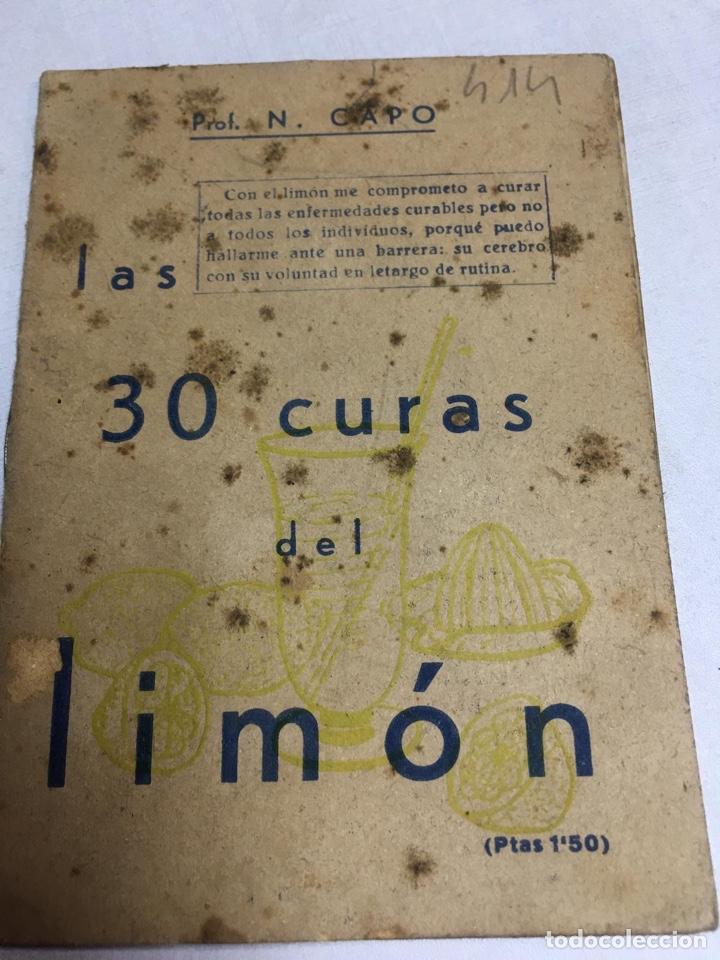LIBRO - LAS 30 CURAS DEL LIMON - PROF. N. CAPO (Libros Nuevos - Ciencias, Manuales y Oficios - Medicina, Farmacia y Salud)
