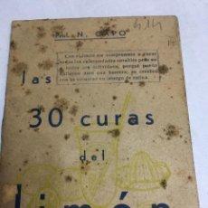 Libros: LIBRO - LAS 30 CURAS DEL LIMON - PROF. N. CAPO. Lote 193221155