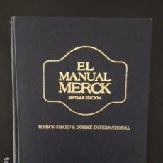 Libros: EL MANUAL MERCK DE DIAGNOSTICO Y TERAPEUTICA PUBLICADO POR MERCK SHARP Y DOHME INTERNATIONAL. Lote 196539481