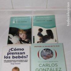 Libros: LOTE 4 LIBROS SOBRE EL NIÑO Y BEBE. Lote 198508642