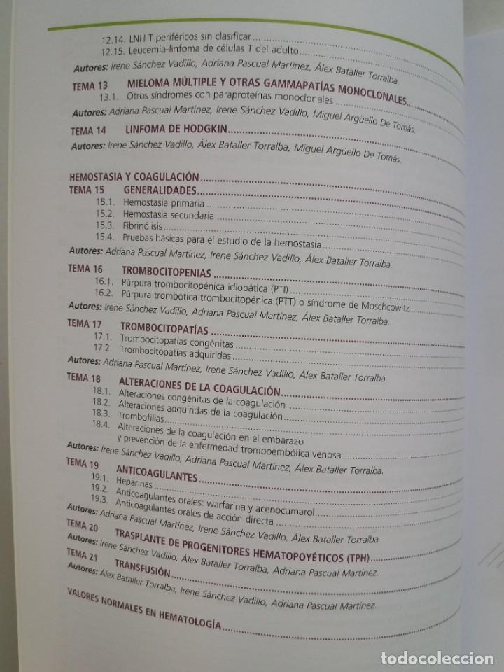 Libros: HEMATOLOGIA ESTUPENDO MANUAL COMPENDIO DE TODA LA HEMATOLOGIA NUEVO 2018 MIR - Foto 3 - 215271206