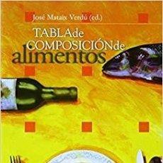 Libros: TABLA DE COMPOSICIÓN DE ALIMENTOS. QUINTA EDICIÓN (MONOGRÁFICA / BIBLIOTECA DE CIENCIAS DE LA SALUD). Lote 243457170