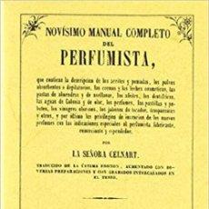 Livros: NOVISIMO MANUAL COMPLETO DEL PERFUMISTA. Lote 263305815