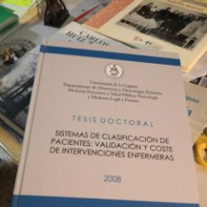 Libros: GRAN LIBRO TESIS DOCTORAL. UNIVERSIDAD DE LA LAGUNA AÑO 2008 FIRMADO DOCTOR ANTONIO SIERRA LOPEZ. Lote 263951340