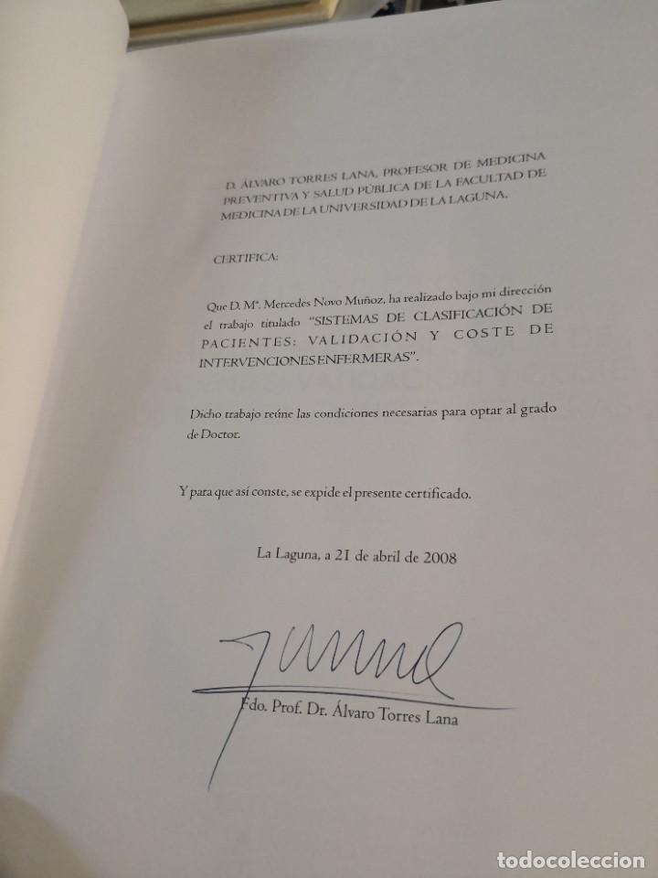 Libros: Gran libro tesis doctoral. UNIVERSIDAD DE LA LAGUNA AÑO 2008 FIRMADO DOCTOR ANTONIO SIERRA LOPEZ - Foto 5 - 263951340