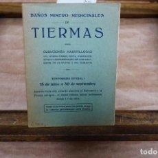 Livros: TIERMAS. BAÑOS MINERO-MEDICINALES.. Lote 273608473
