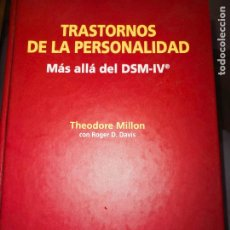 Libri: TRANSTORNOS DE LA PERSONALIDAD. MAS ALLA DEL DSM-IV. THEODORE MILLON. Lote 284182968