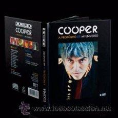 Libros: COOPER A PROPÓSITO DE MI UNIVERSO LIBRO Y DOBLE DVD LOS FLECHAZOS ELEFANT RECORDS. Lote 54672796