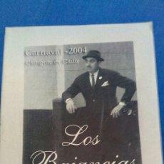 Libros: LIBRITO DE CARNAVAL DE 2004. Lote 94018319