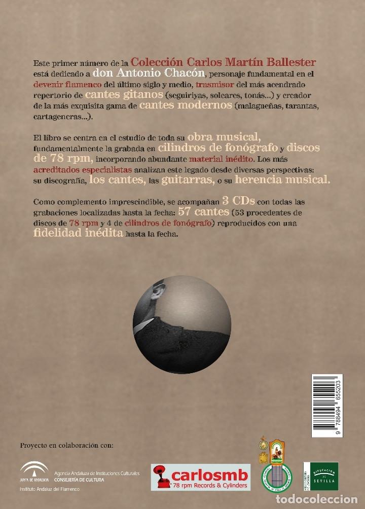 Libros: LIBRO-DISCO: DON ANTONIO CHACÓN, COLECCIÓN CARLOS MARTÍN BALLESTER - Foto 8 - 120432191