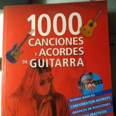 Libros: MIL CANCIONES Y ACORDES DE GUITARRA. Lote 142707006
