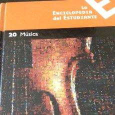 Libros: ENCICLOPEDIA DEL ESTUDIANTE NÚMERO 20 - MÚSICA. Lote 147337241