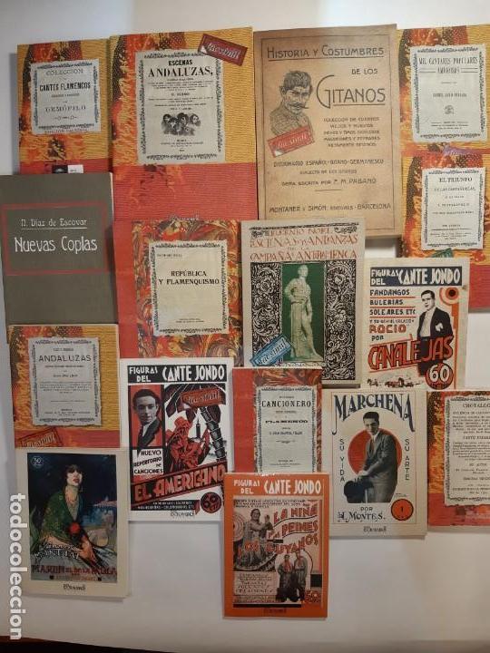 16 LIBROS FACSÍMILES RELATIVOS AL FLAMENCO. CASTAÑUELAS CANTE JONDO CANTAORES CANTARES ANDALUCÍA (Libros Nuevos - Bellas Artes, ocio y coleccionismo - Música)