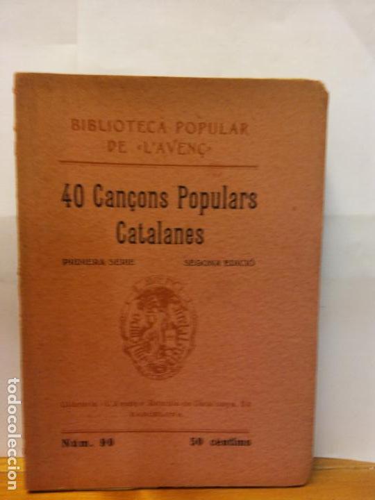 STQ.40 CANÇOS POPULARS CATALANES.EDT, BARCELONA.BRUMART TU LIBRERIA. (Libros Nuevos - Bellas Artes, ocio y coleccionismo - Música)