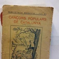Libros: STQ.CANÇOS POPULARS DE CATALUNYA.EDT, BARCELONA.BRUMART TU LIBRERIA.. Lote 159957546