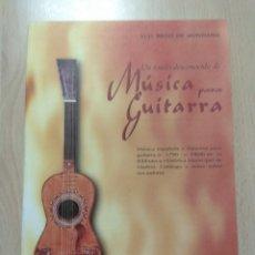 Libros: UN FONDO DESCONOCIDO DE MÚSICA PARA GUITARRA. Lote 177422038