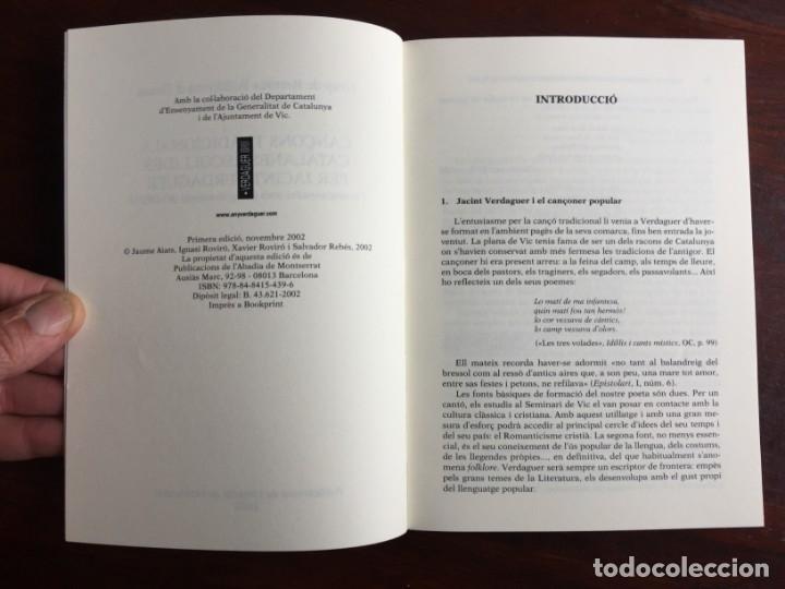 Libros: Cançons tradicionals Catalanes recollides per jacint Verdaguer, amb CD del grup folkloric GRFO - Foto 2 - 182614246