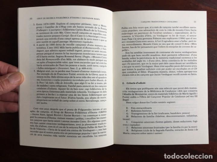 Libros: Cançons tradicionals Catalanes recollides per jacint Verdaguer, amb CD del grup folkloric GRFO - Foto 3 - 182614246