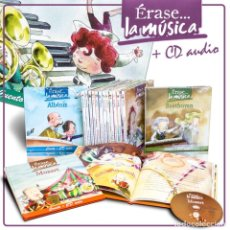 Libros: PACK ÉRASE… LA MÚSICA. 13 LIBROS + CDS - VARIOS AUTORES . Lote 184073595