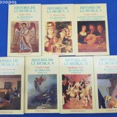 Libros: LOTE 7 TOMOS ,COLECCIÓN HISTORIA DE LA MUSICA ,EDITORIAL TURNER ,AÑOS 1986. Lote 191833946