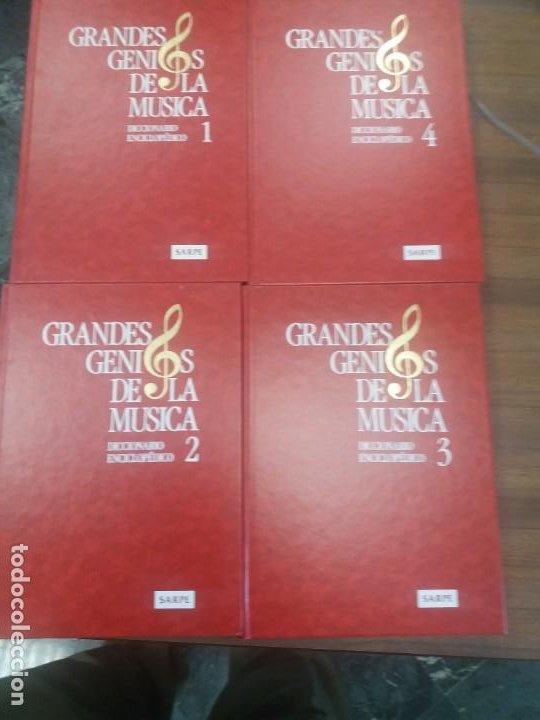 Libros: Diccionario enciclopédico GRANDES GENIOS DE LA MUSICA (4 Tomos) - Foto 3 - 197390472
